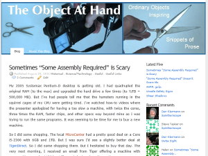 The Object At Hand